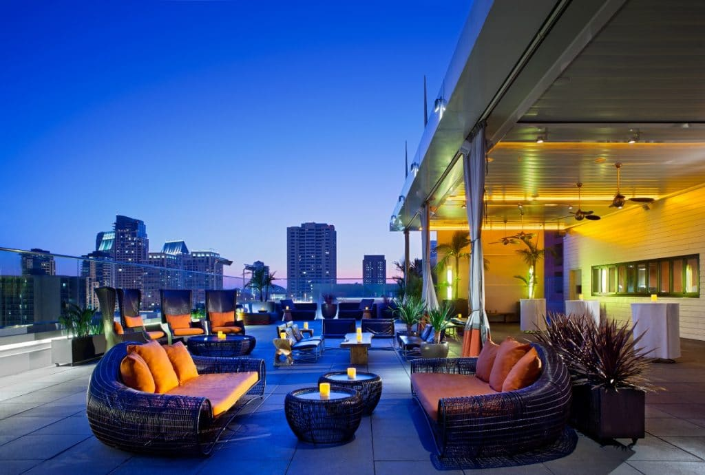 Another side of san diego tours sunset rooftop happy hour for Eddie v s san diego